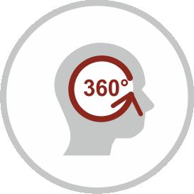 360° zpětná vazba - ikona